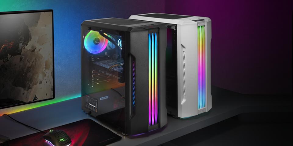 Diseño pro-gaming RGB