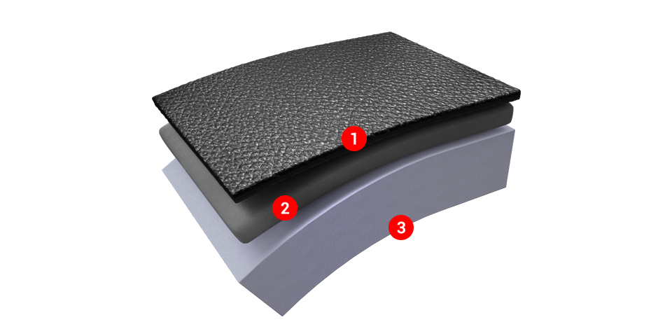 Triple layer with double cushion